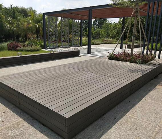 广州白云景区塑木座台平台