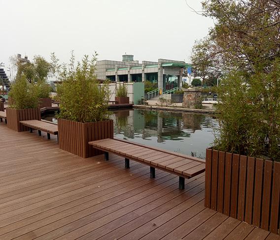 台湾高雄公园纳米木景观