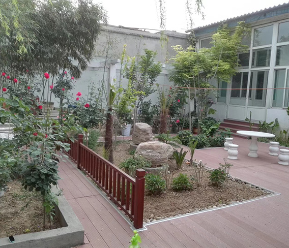 北京通州王总别墅木塑景观小平台