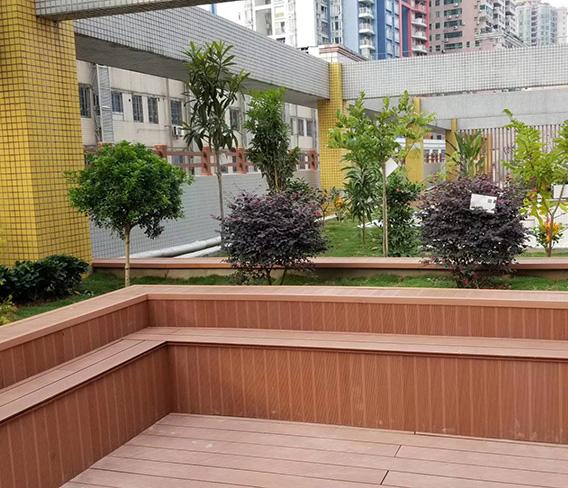 上海塑木花池休闲座台