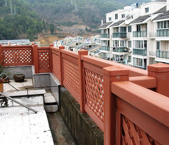 西藏林芝地区住宅石英塑护栏