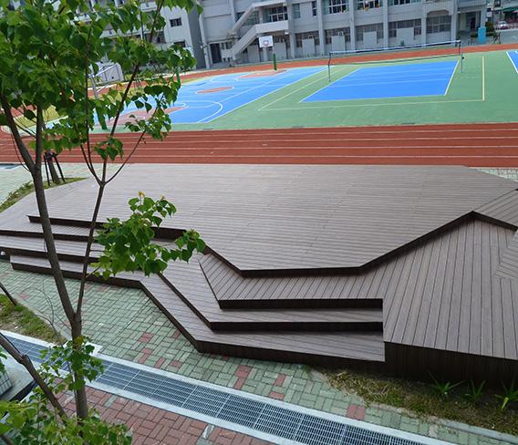 上林国小球场纳米木平台