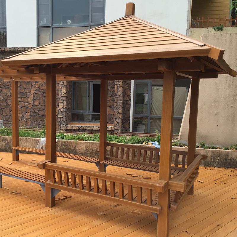 私家别墅花园塑木凉亭