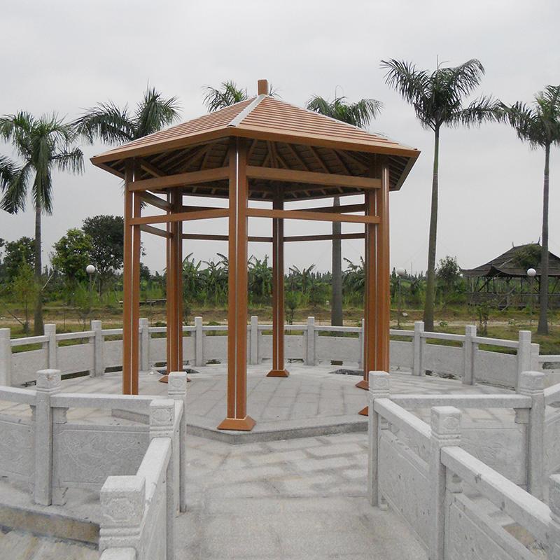 生态园景区塑木凉亭