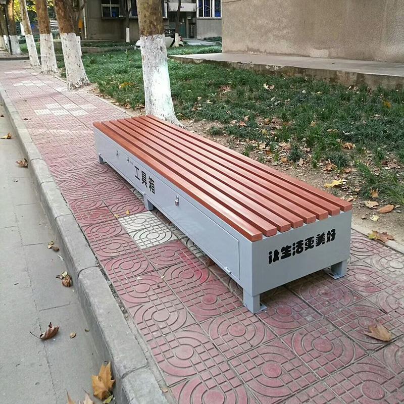 户外多功能塑木坐凳