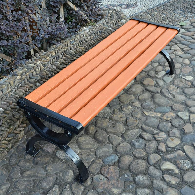 户外塑木公园椅无靠背