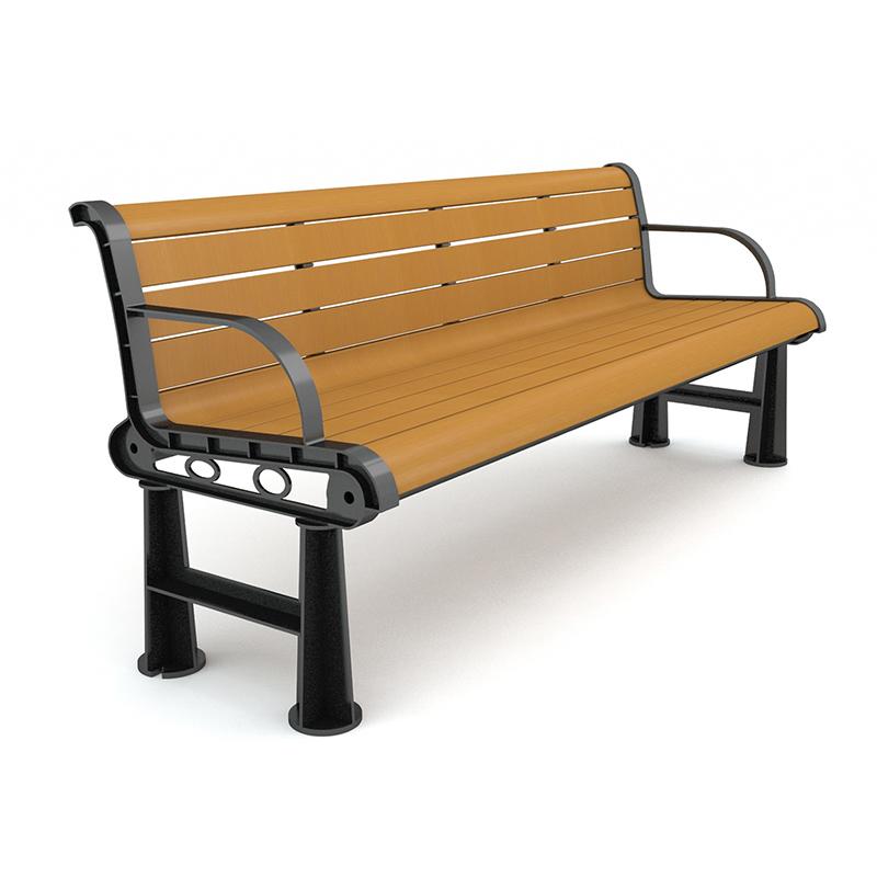 塑木公园椅新舒适款