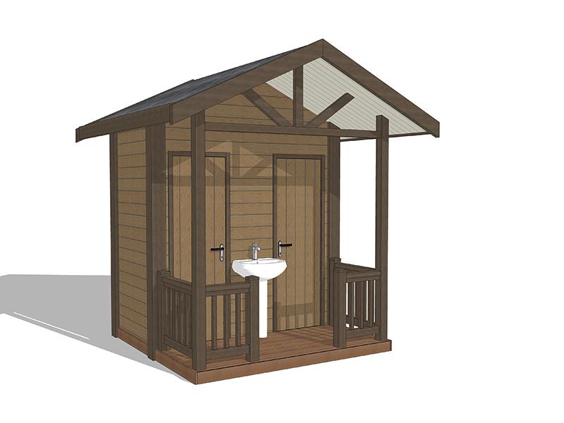 简约型生态公厕