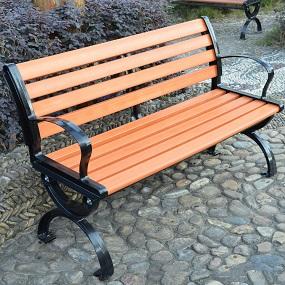 塑木公园椅丨木塑坐凳