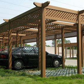 塑木廊架丨木塑花架