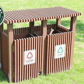 塑木垃圾桶丨木塑垃圾箱